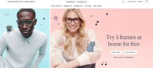 warby parker site